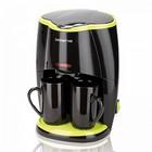 Кофеварка POLARIS PCM 0210 черный-салатовый