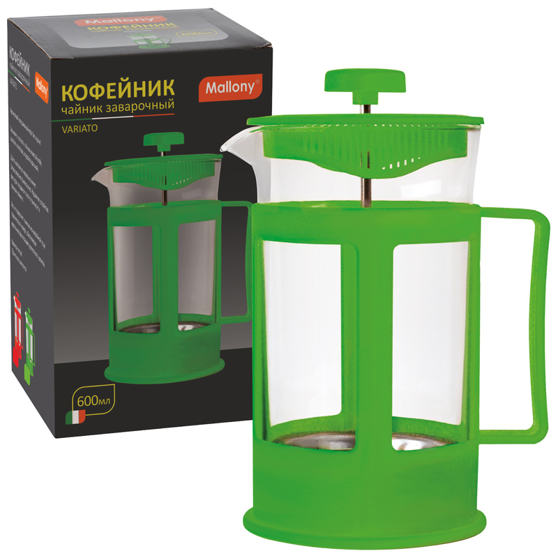 950077 Чайник/кофейник (кофе-пресс) Mallony PFP01-600ML