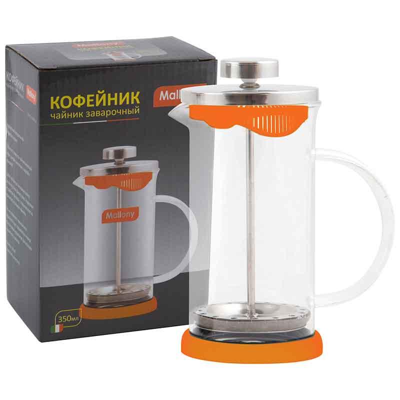 950069 Чайник/кофейник (кофе-пресс) Mallony GFP01-350ML-O