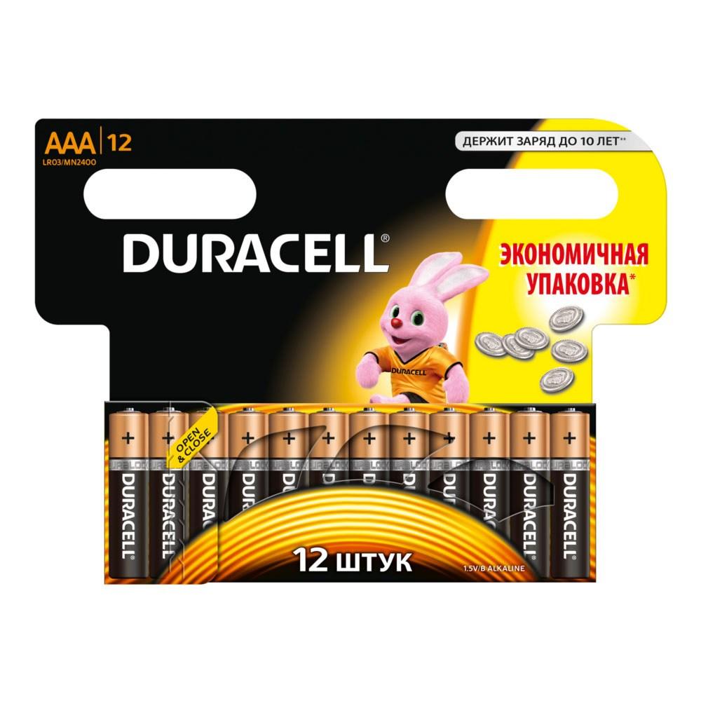 Элемент питания Duracell LR03-12BL BASIC (12шт. в блистере)