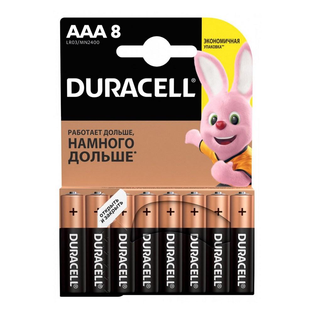 Элемент питания Duracell LR03-8BL BASIC (8шт. в блистере)