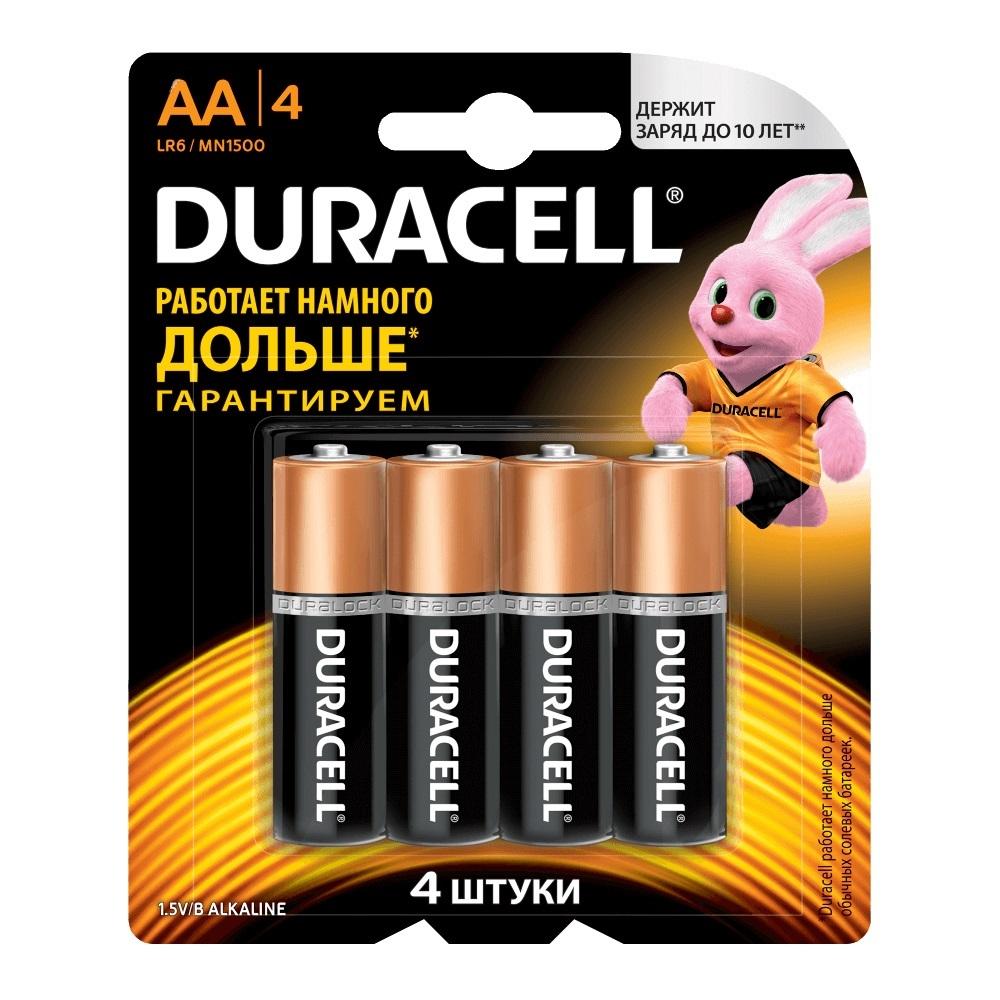 Элемент питания Duracell LR6-4BL BASIC (4шт. в блистере)