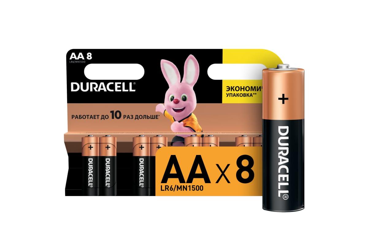 Элемент питания Duracell LR6-8BL BASIC (8шт. в блистере)