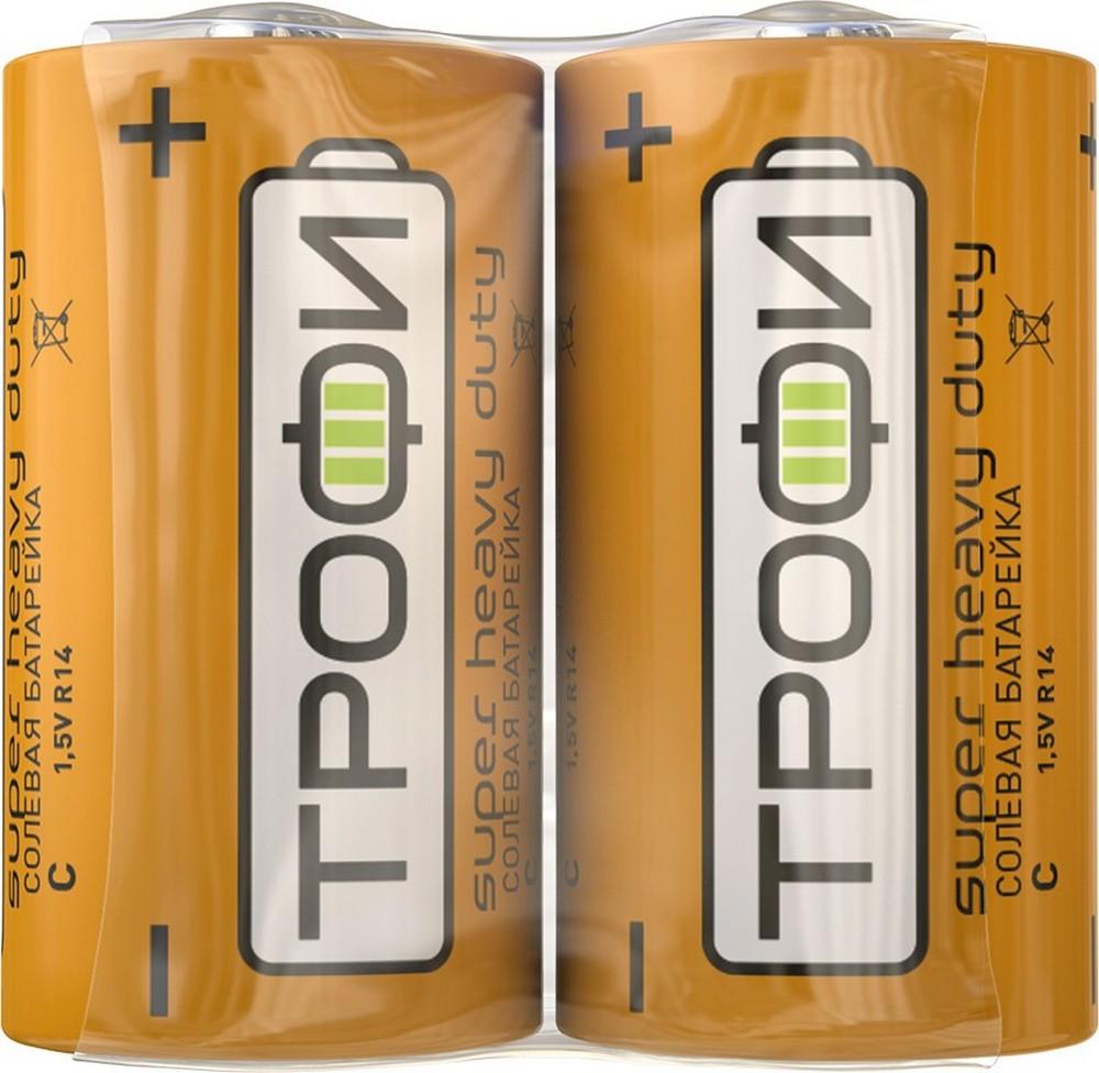 Элемент питания Трофи R14-2S (2шт. в спайке)