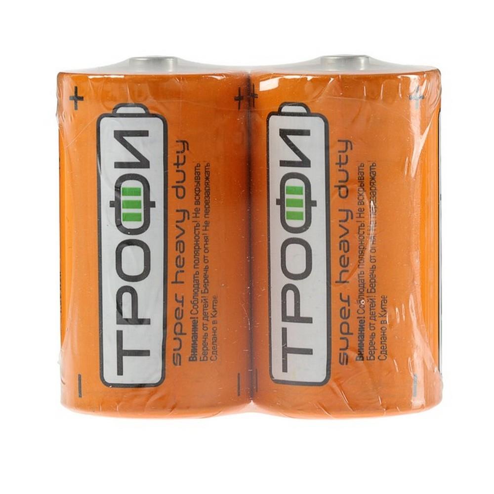 Элемент питания Трофи R20-2S (2шт. в спайке)