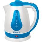 Чайник SCARLETT SC-EK 18 P29 белый с голубым