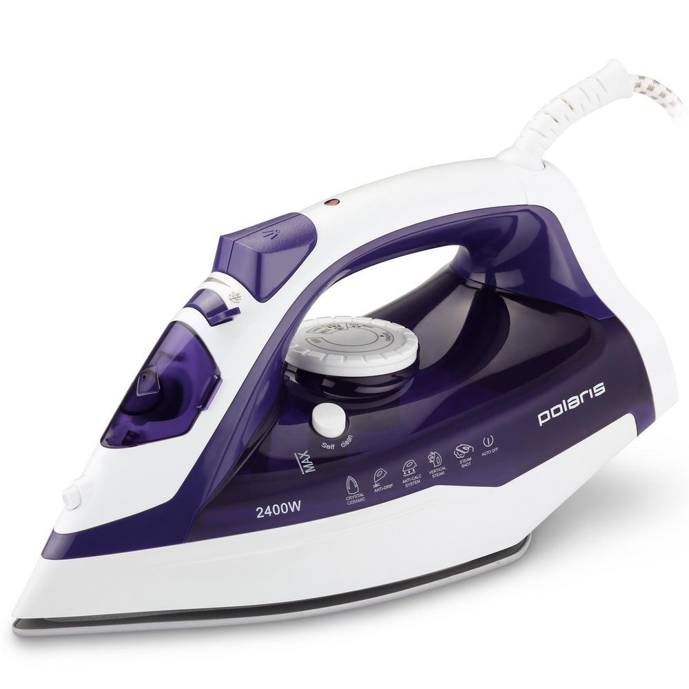 Утюг POLARIS PIR 2482 AК белый-фиолетовый