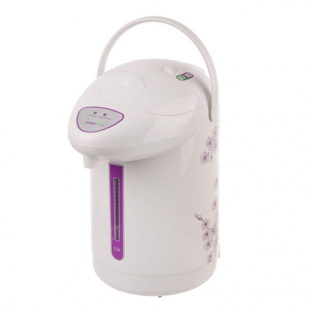 Термопот HOMESTAR HS-5001 рисунок, фиолетовые цветы