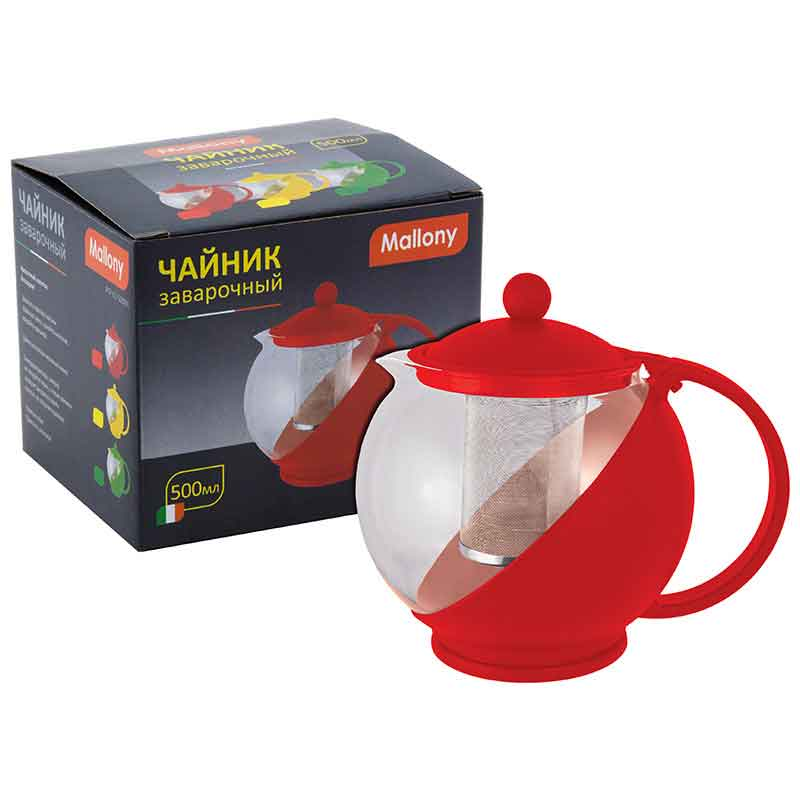 910101 Чайник заварочный Mallony PTP-01-500ML