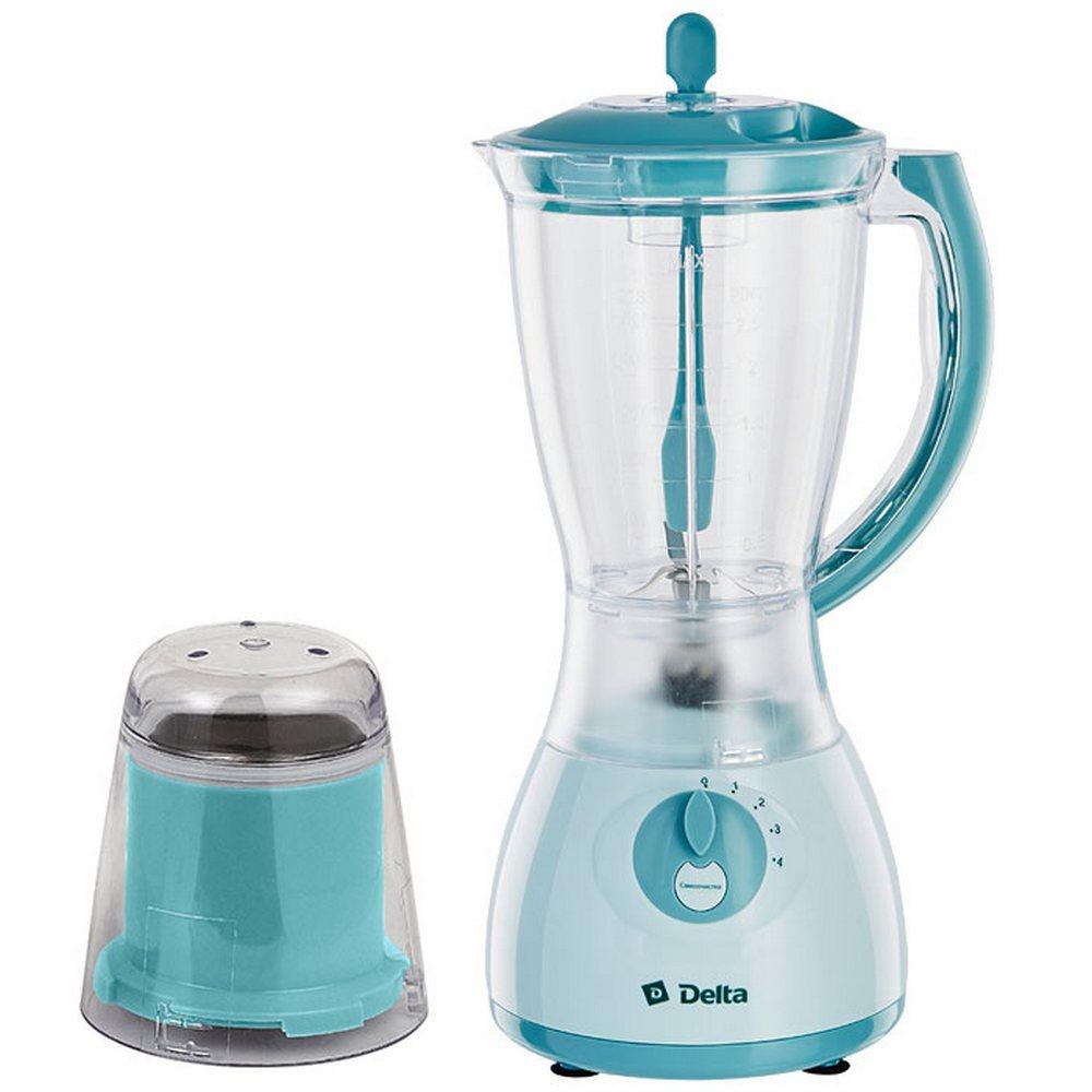 Блендер с кофемолкой DELTA DL-7310 серо-голубой