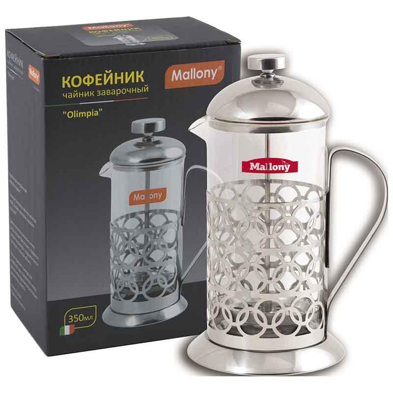 """950100 Чайник/кофейник (кофе-пресс) Mallony """"Олимпия"""" Т046-350ML"""