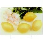 Доска разделочная стеклянная МВ 23300-1 Лимон