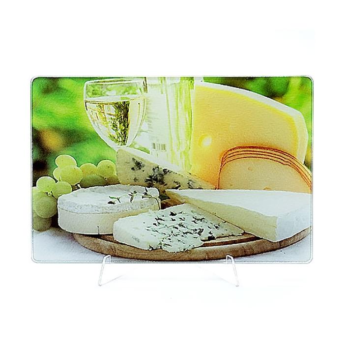 Доска разделочная стеклянная МВ 23301-2 Сыр