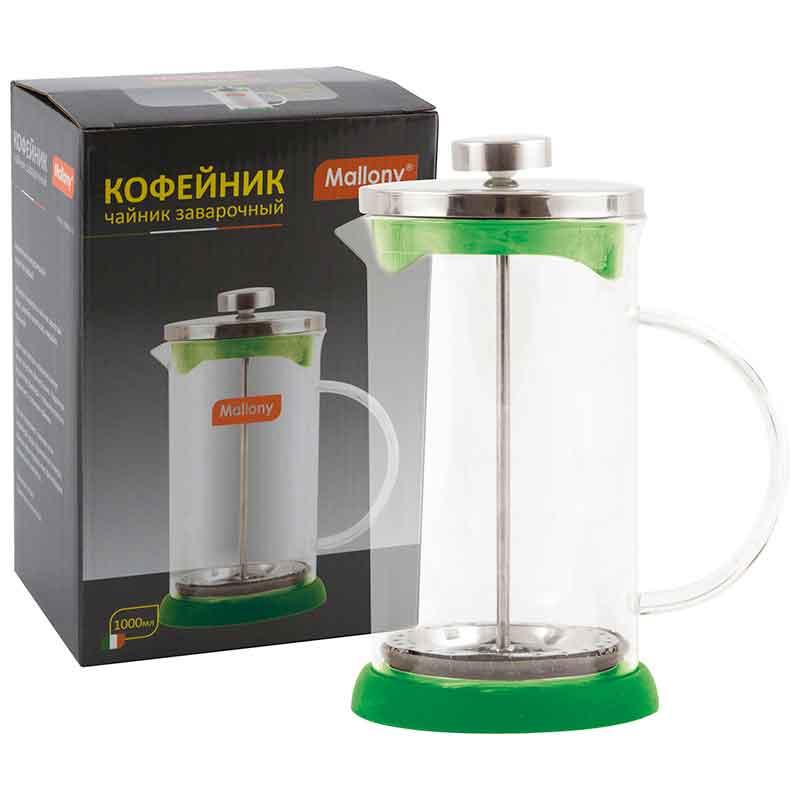 950075 Чайник/кофейник (кофе-пресс) Mallony GFP01-1000ML-G