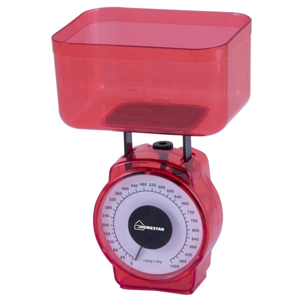 Весы кухонные HOMESTAR HS-3004M красный