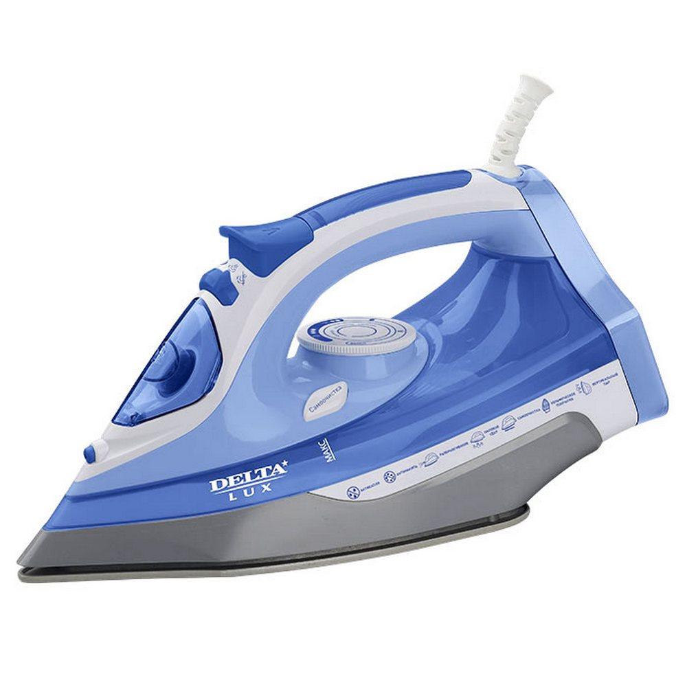 Утюг DELTA LUX DL-712 белый с синим