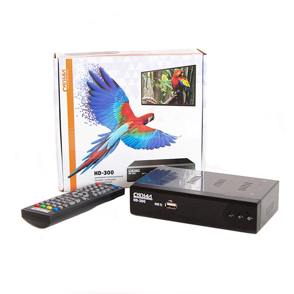 Ресивер эфирный цифровой DVB-T2 HD Сигнал HD-300