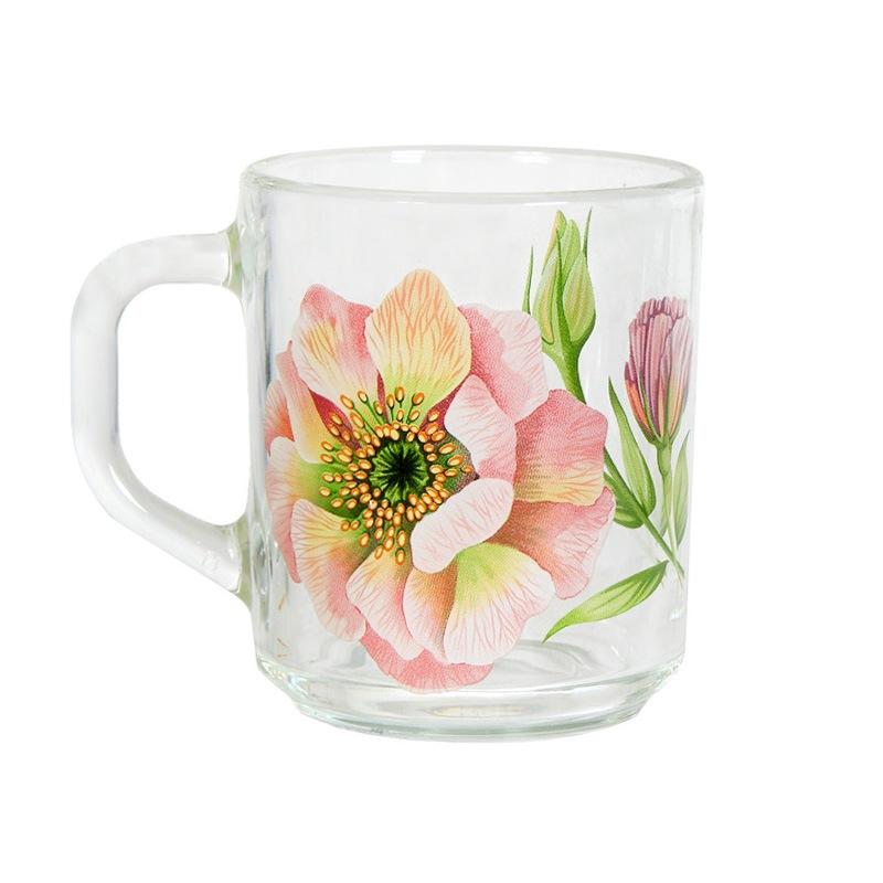 """Кружка """"Green tea"""" Акварельные цветы 200мл"""