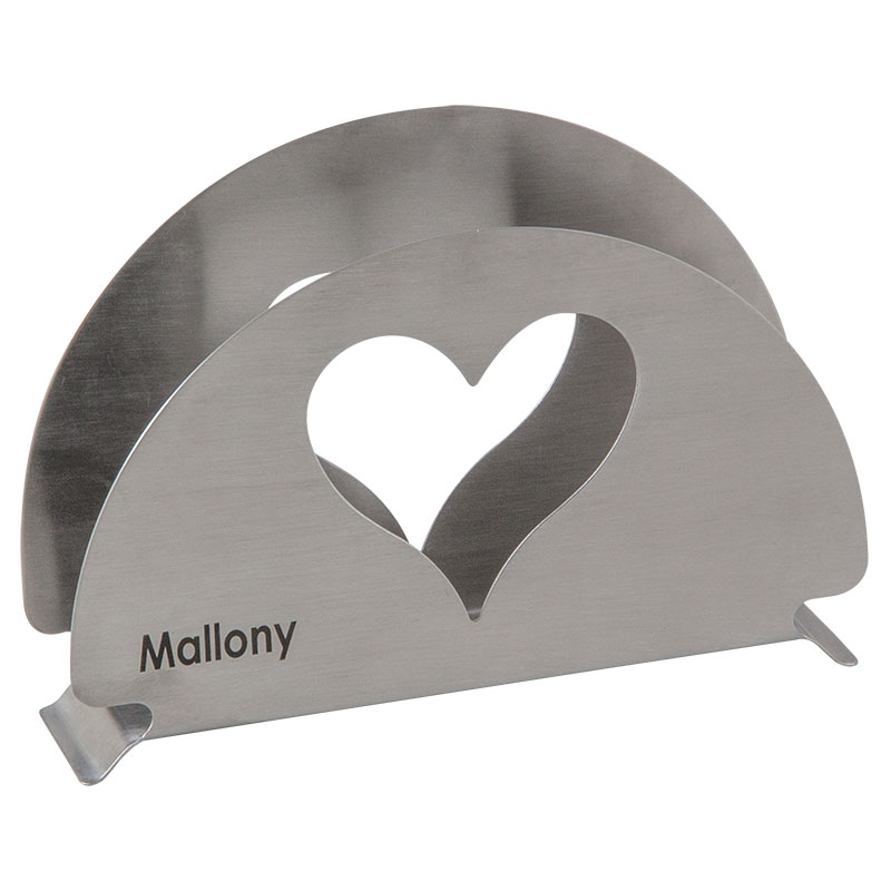 003060 Держатель для салфеток из нерж.стали Mallony CUORE
