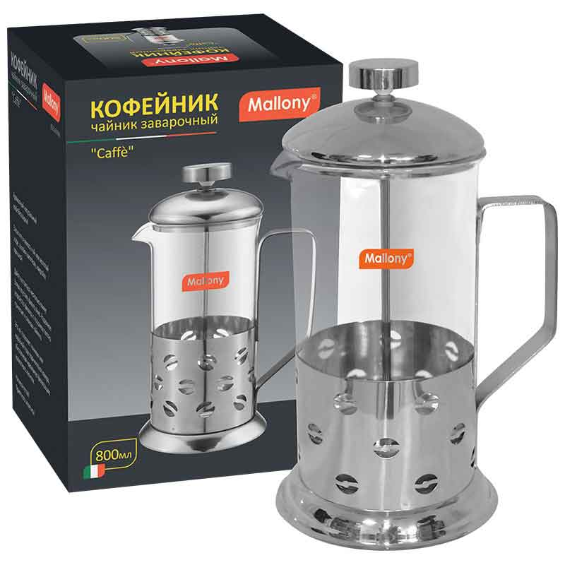 950082 Чайник/кофейник (кофе-пресс) Mallony B535-800ML