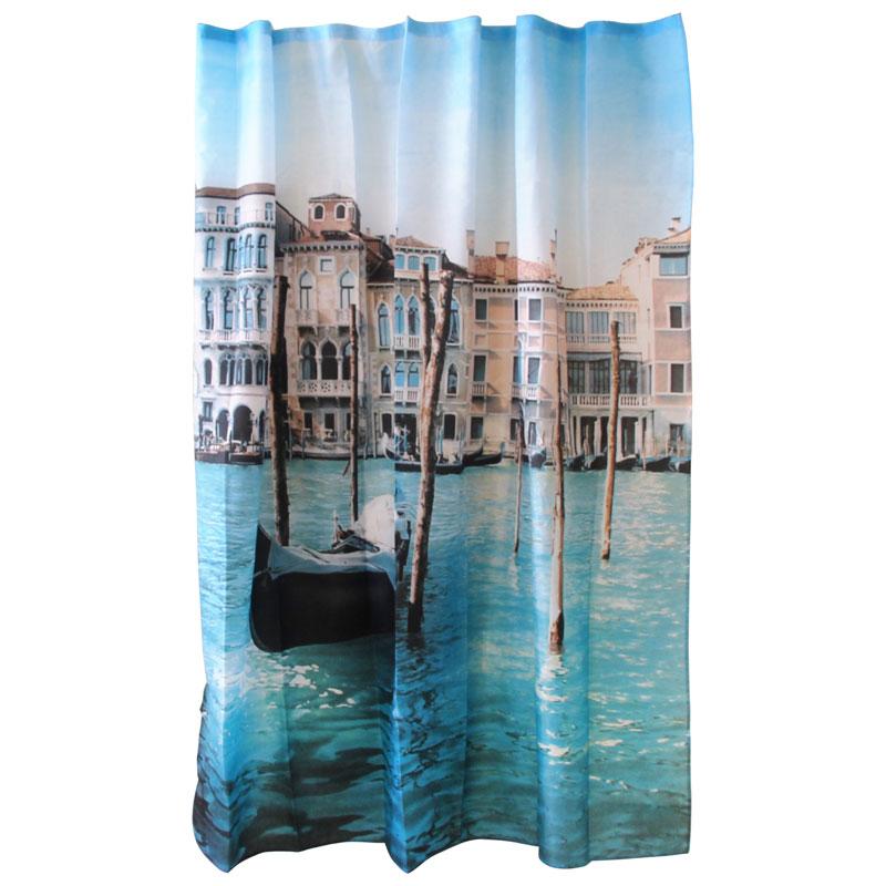 """000873 Занавеска для ванной """"Рыжий кот"""" Curtain-Venice """"Венеция"""""""