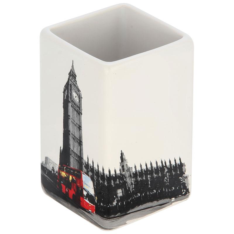"""002902 Стакан для ванной комнаты """"Лондон"""" TU-L """"Рыжий кот"""""""
