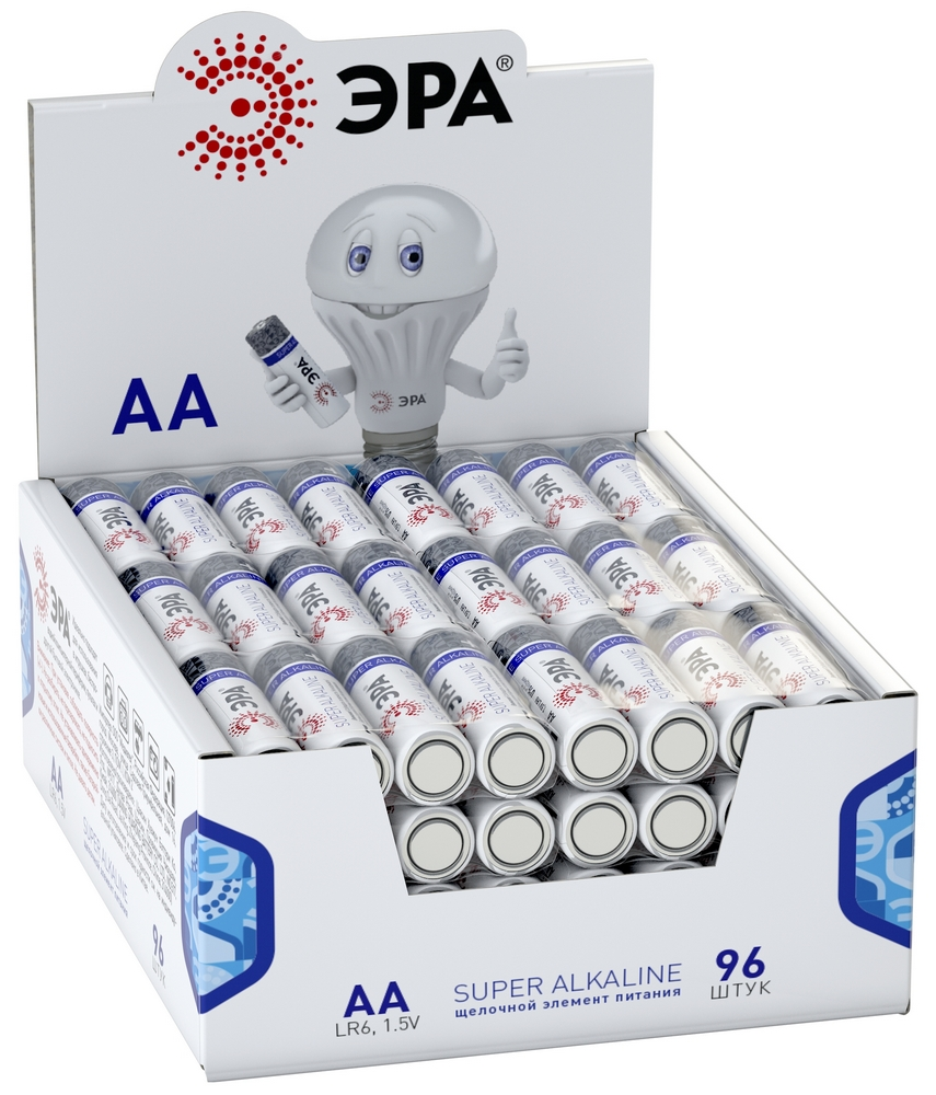 Элемент питания ЭРА LR6-4S promo-box (4шт. в спайке)