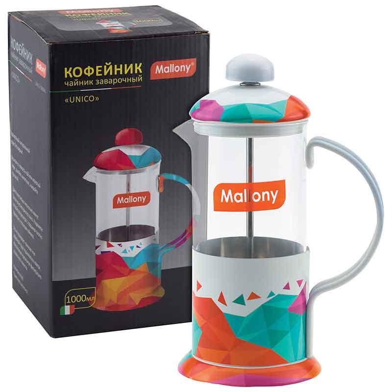 """950142 Чайник/кофейник (кофе-пресс) Mallony """"UNICO"""" UNICO-1000ML"""