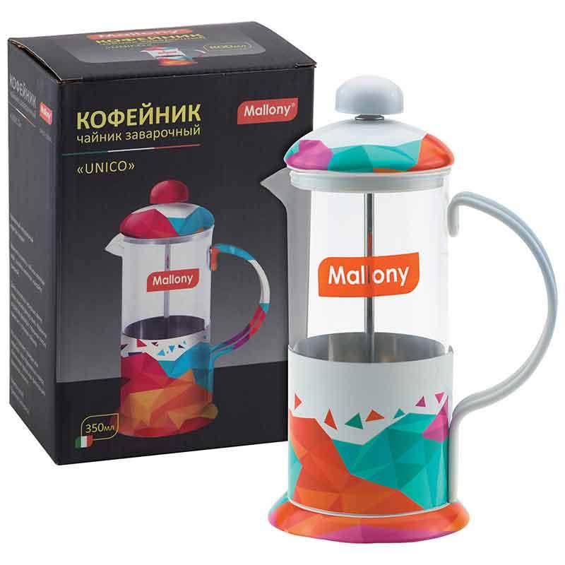 """950140 Чайник/кофейник (кофе-пресс) Mallony """"UNICO"""" UNICO-350ML"""