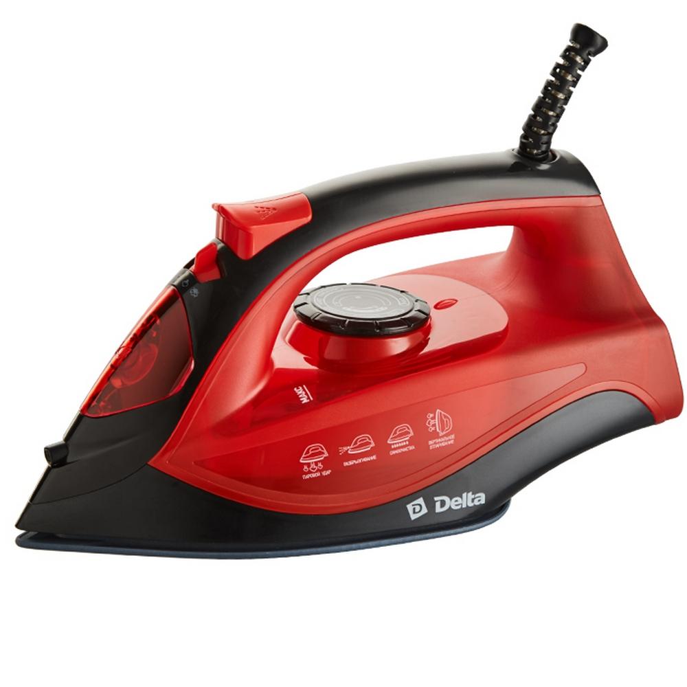 Утюг DELTA DL-756 черный с красным