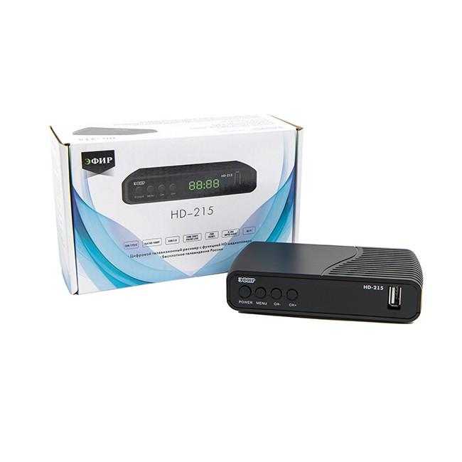 Ресивер эфирный цифровой DVB-T2/C HD Сигнал HD-215