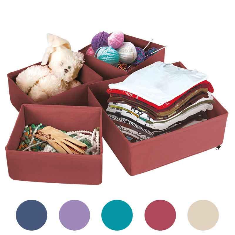 """312510 Набор коробок для хранения вещей """"Рыжий кот"""" (4шт.)"""