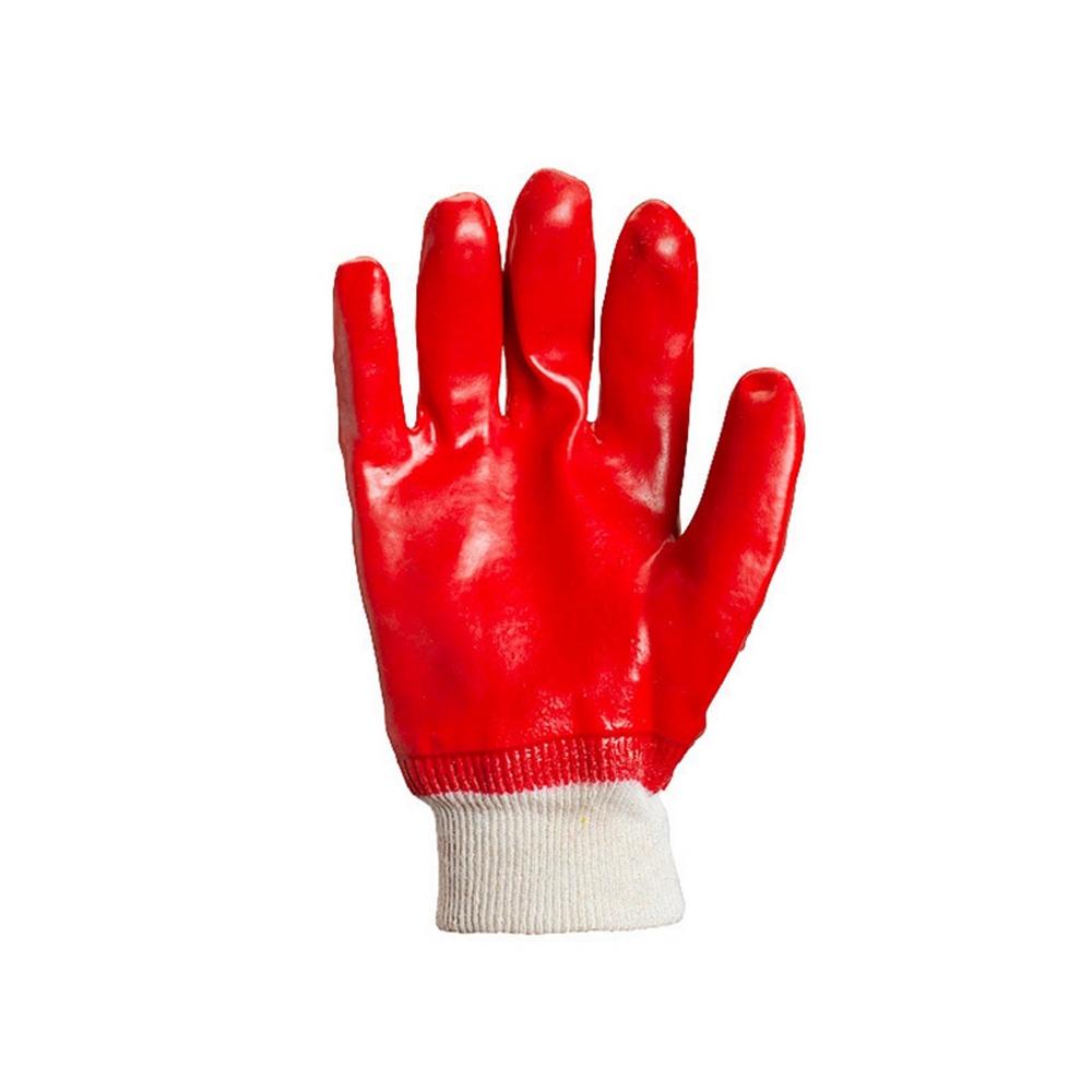 4518 Перчатки полный облив ПВХ, вязаный манжет DOLONI