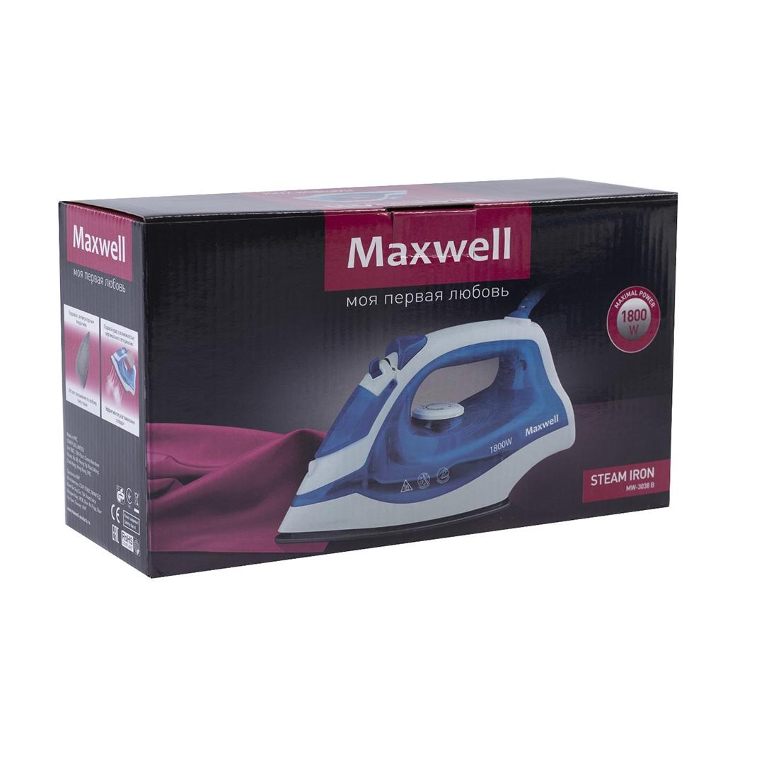 Утюг MAXWELL MW-3038 синий