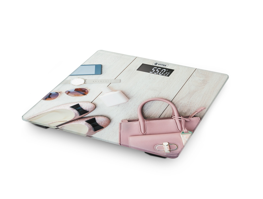 Весы напольные VITEK VT-8074 розовый