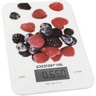 Весы кухонные электронные POLARIS PKS 0740DG Berries белый/рисунок