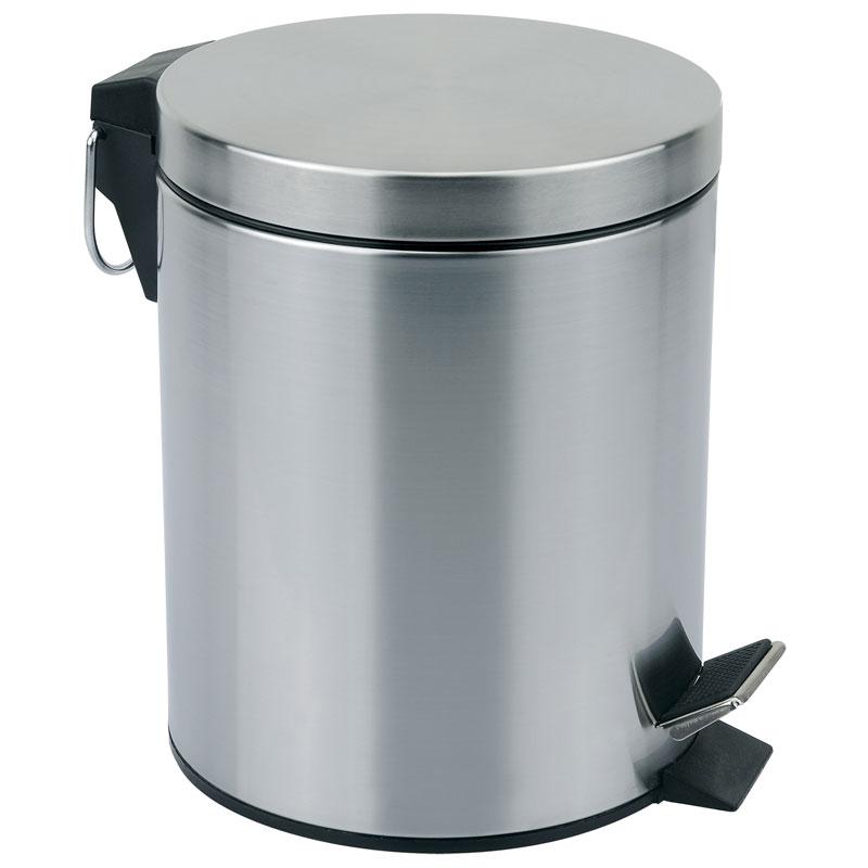 310430 Ведро для мусора 5л круглое DBM-01-5 Mallony матовое