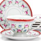 """Чайный набор 12 предметов """"Цветы"""" LR 25921"""