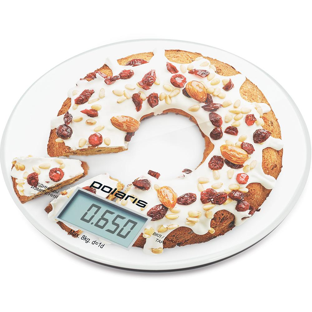 Весы кухонные электронные POLARIS PKS 0855DG рисунок