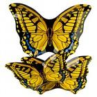 "Набор 10076L/3-ST из 3-х овальных блюд ""Бабочки"""