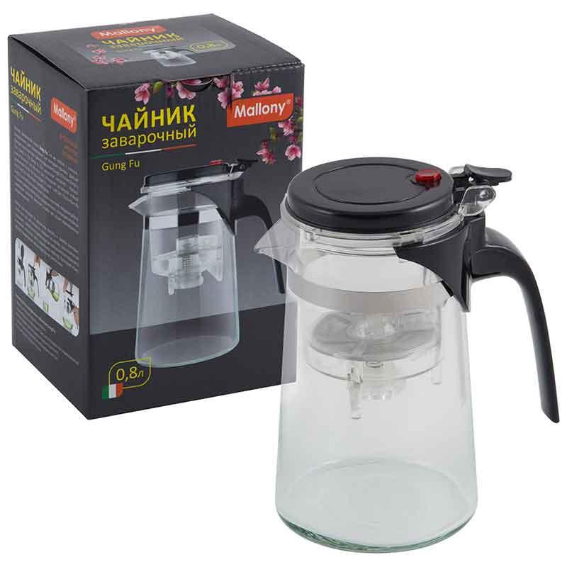 004533 Чайник заварочный Mallony с кнопкой серия Gung Fu