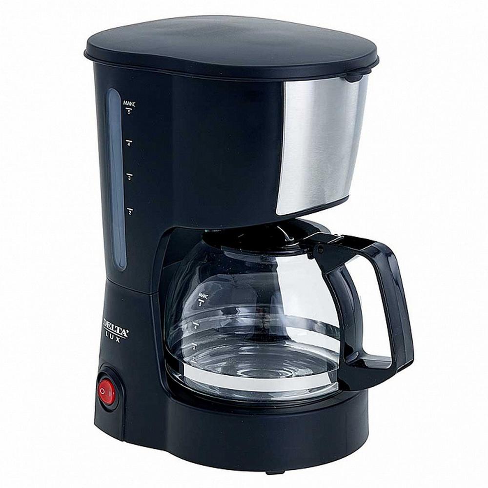Кофеварка DELTA LUX DL-8161 черный