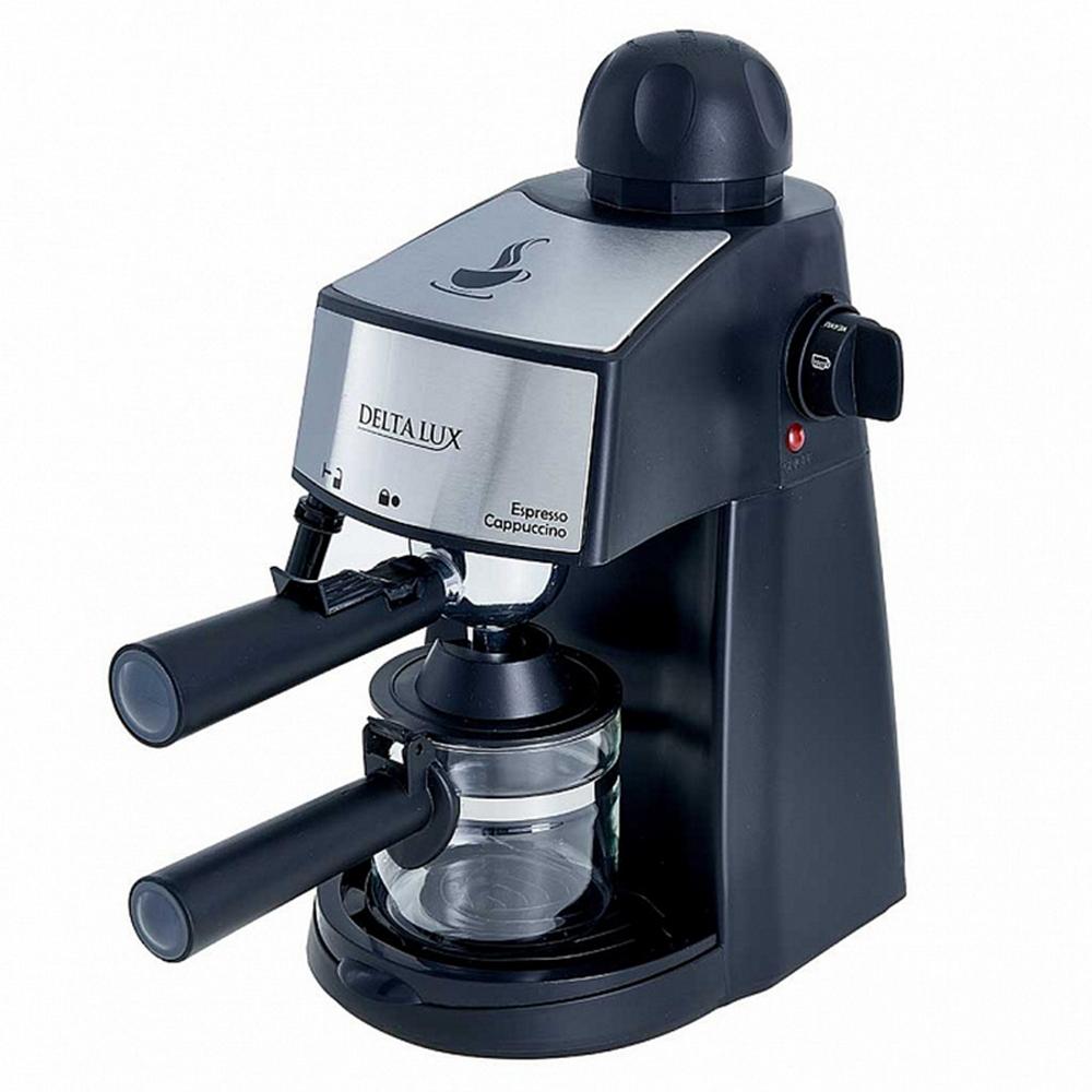 Кофеварка DELTA LUX DL-8151К черный
