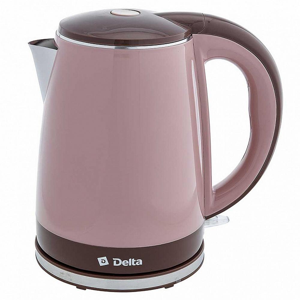 Чайник DELTA DL-1370 бежевый с коричневым