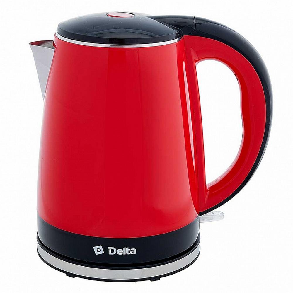Чайник DELTA DL-1370 красный с черным
