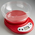 Весы кухонные с чашей ВАСИЛИСА ВА-010 красный