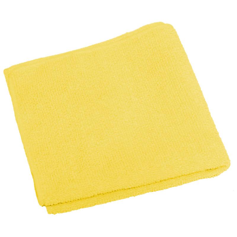 """310203 Салфетка из микрофибры M-02 """"Рыжий кот"""", желтый, размер 30х30см"""