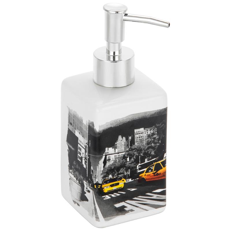 """002899 Дозатор для жидкого мыла """"Нью-Йорк"""" DIS-NY """"Рыжий кот"""""""
