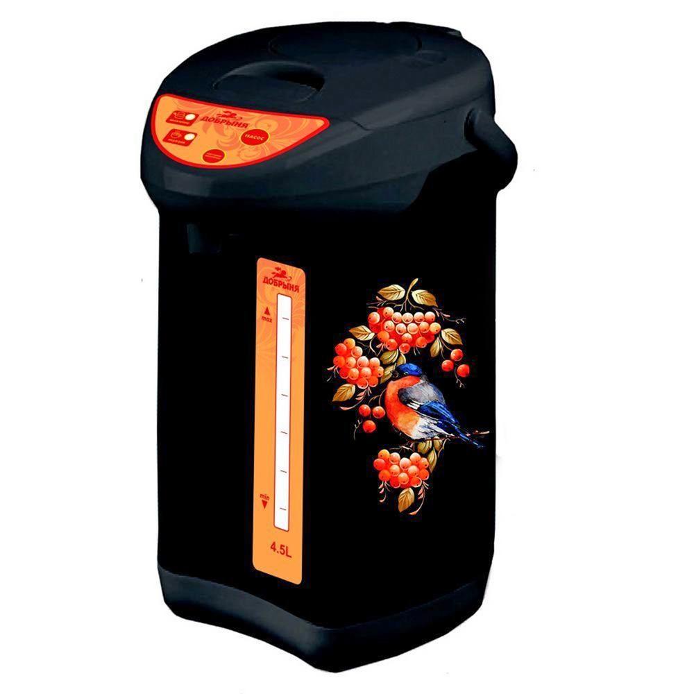 Термопот/ Термос-чайник (термопот) Добрыня DO-488 Снегирь на черном