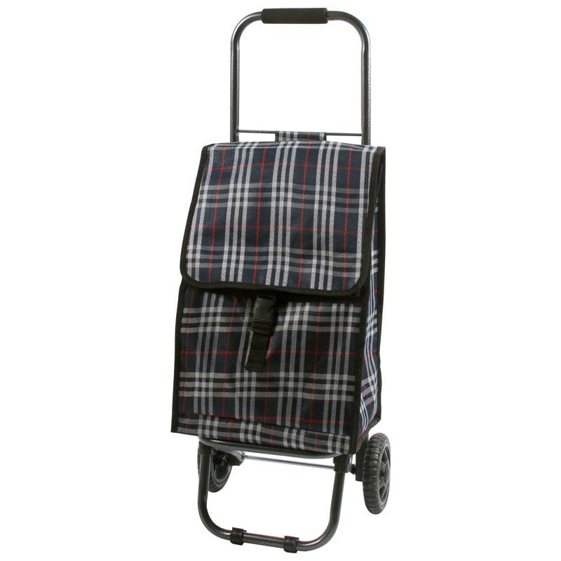 """002250 Тележка с сумкой """"Tartan"""" D203ECO """"Рыжий кот"""""""